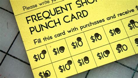 frequent customer punch card template pin frequent buyer cards on