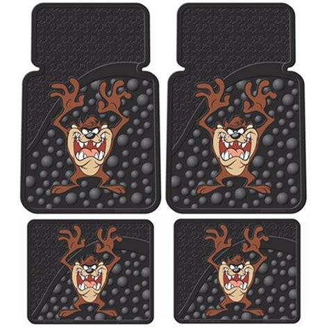 taz car seat covers and floor mats 7pc taz car mats seat covers accessories set yupbizauto