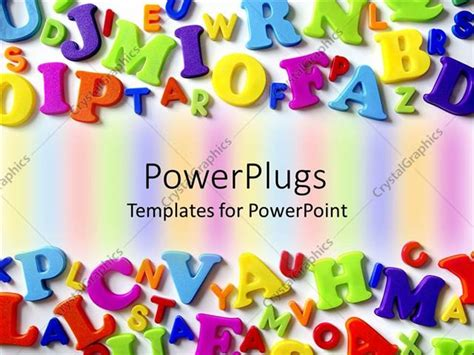 Powerpoint Template Macro Composition Of Colorful Plastic Letters Arranged At Opposite Ends Of Letter Template Powerpoint