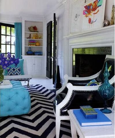 Turquoise And Black Living Room - turquoise ottoman contemporary living room jonathan