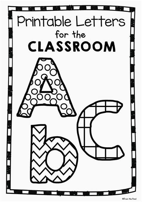 printable letters for bulletin board free printable classroom letters teacher s corner