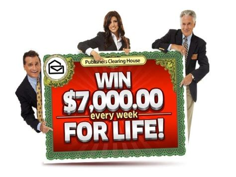 How To Win The Publishers Clearing House - publishers clearing house sweepstakes quot win 7000 a week for life quot