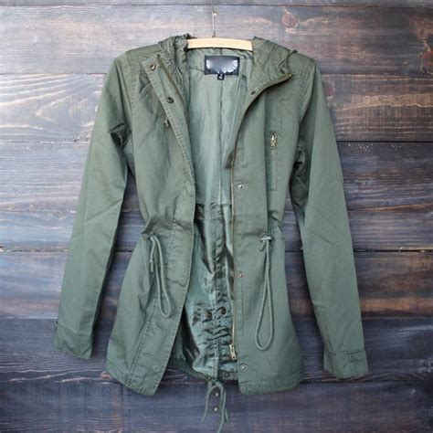 Jaket Parka Green Army Jaket Parka Jumbo Parka Cotton Premium paper hearts army green hooded utility parka jacket shophearts