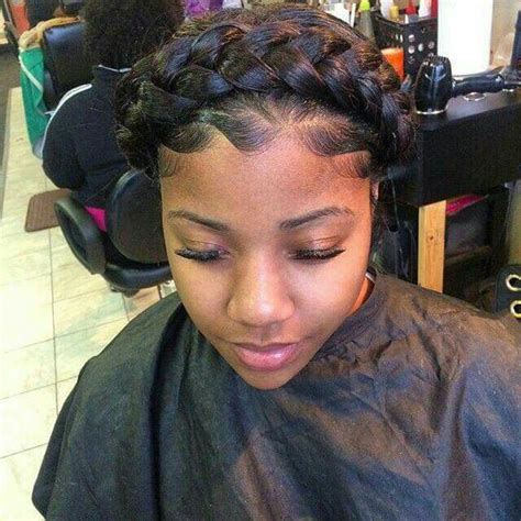 halo crowngoddess braids on natural hair black girl with halo braid pinteres