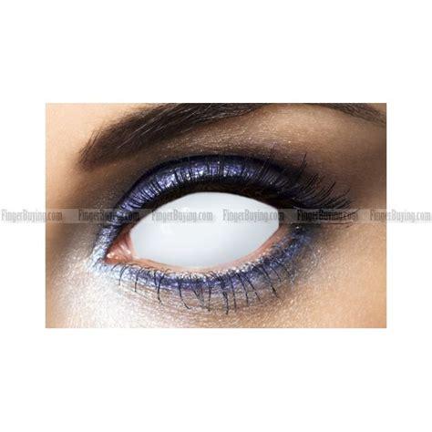 White Blind Eye Contact Lenses all white blind sclera contact lens pair all white blind sclera contacts