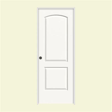 hollow interior doors home depot jeld wen 28 in x 80 in molded smooth 2 panel arch