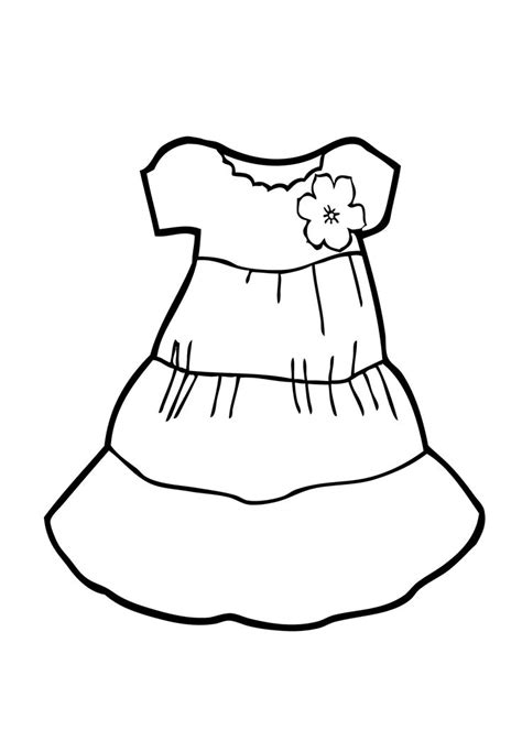 coloring page of a dress light dress coloring page for girls printable free