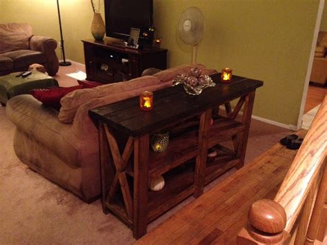 rustic sofa tables diy rustic console tables the of rustic console table