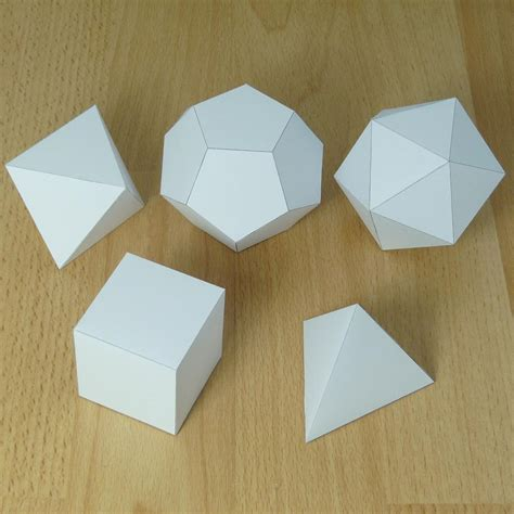 How To Make 3d Shapes Out Of Paper - pictures of platonic solids
