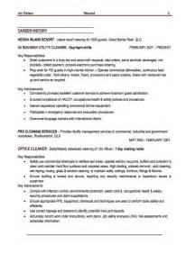 office cleaner resume example resumes design