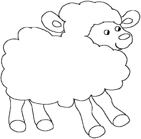 Cute Lamb Easy Coloring Pages Colouring Pages Sheep