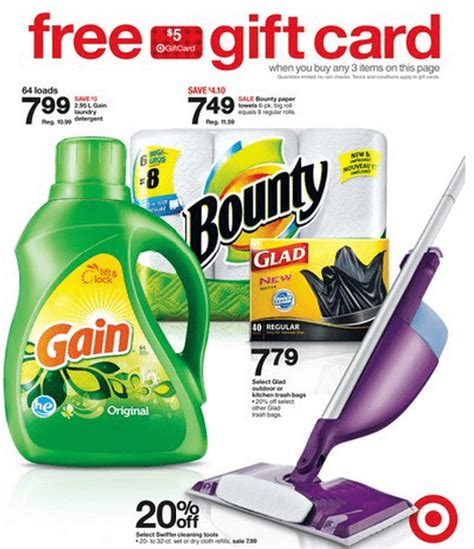 Target Gift Card With Purchase - target canada deals receive a free 5 gift card when you buy any 3 select gain