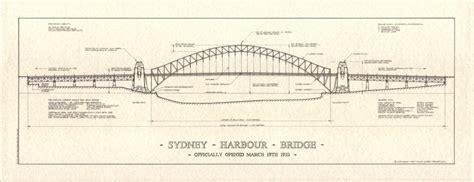 layout drawing en français sydney harbour bridge print architectural prints