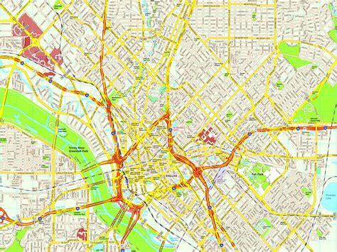 map dallas dallas map eps illustrator vector city maps usa america illustrator eps city country maps