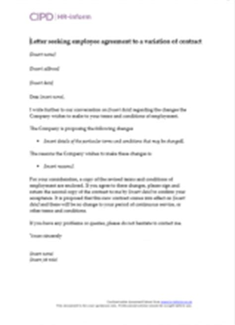 letter seeking employee agreement cipd hr inform