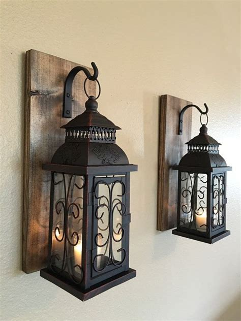 wall decor candles home decoration club wall sconce wooden sconcesset of two sconces by