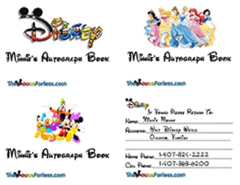 disney world autograph book template disney customized autograph books