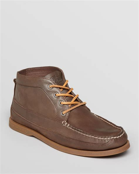 sperry chukka boot sperry top sider ao boat leather chukka boots in brown for