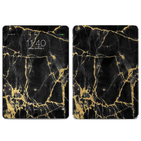 apple ipad air  skin black gold marble  marble