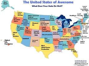 united states map of each state the united states of awesome