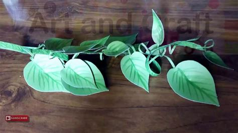 How To Make A Bush Out Of Paper - how to make craft paper money plant tutorial 2016