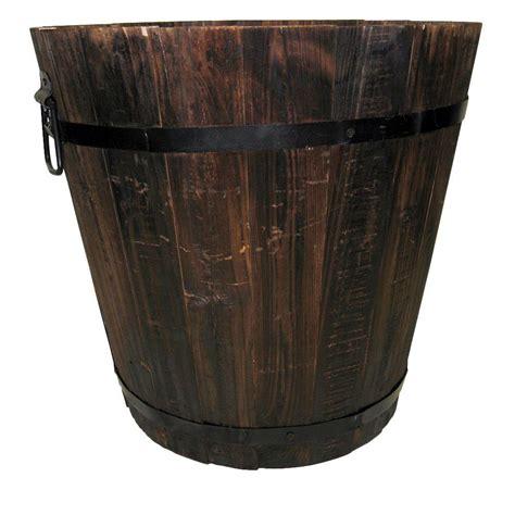 Pennington 14 in. Dia Dark Flame Wood Bucket 100512046 The Home Depot