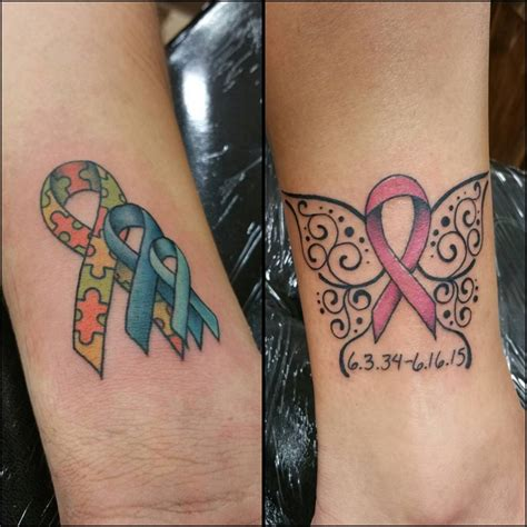 cancer ribbon tattoos 65 best cancer ribbon designs meanings 2018