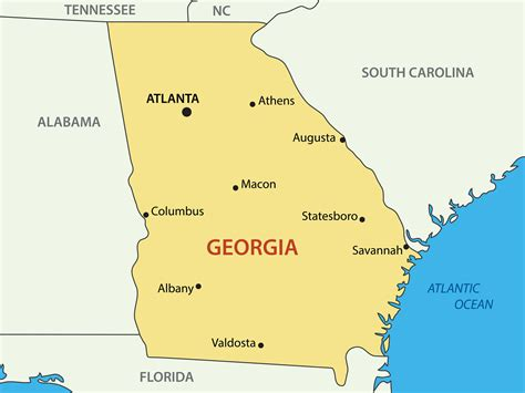 atlanta in map of usa map of guide of the world