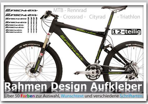 Folien Aufkleber Fahrradrahmen fahrrad rahmen beschriftung aufkleber set 12 teilig