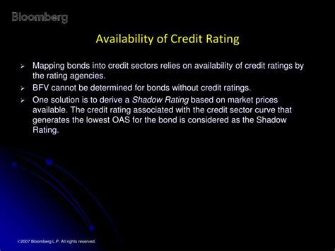 Bloomberg Excel Formula Credit Rating Ppt Bloomberg Fair Value Market Powerpoint Presentation Id 1229664