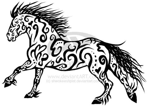 tribal horse tattoo designs tribal design