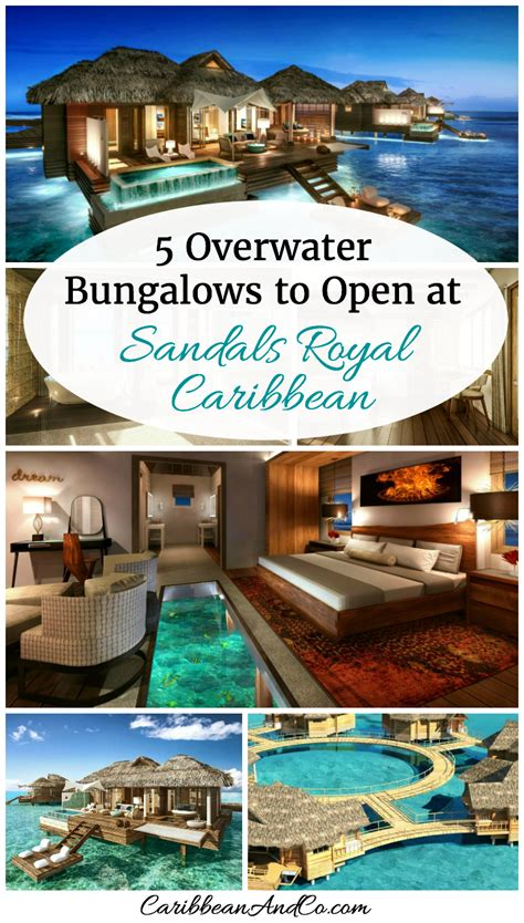 the water bungalows sandals 5 overwater bungalows to open at sandals royal caribbean