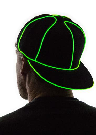 light up hat light up snapback hat neon nightlife