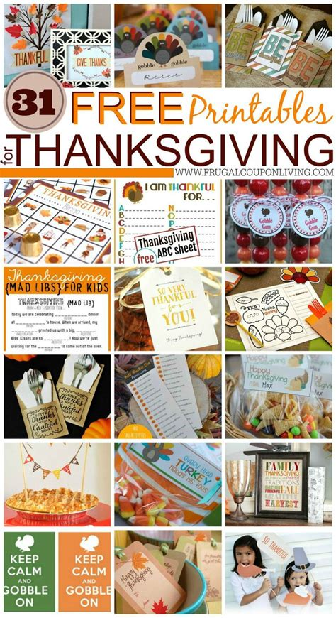 printable thanksgiving grocery coupons 31 free thanksgiving printables crafts free printables