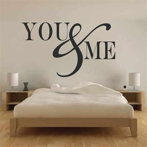 wall decals bedroom romantic bedroom wall decal vinyl mural sticker you