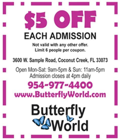 free butterfly world coupons best free stuff guide