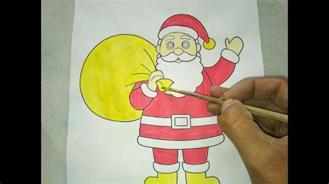 draw santa claus painting merry christmas special  kids uv arts crafts youtube