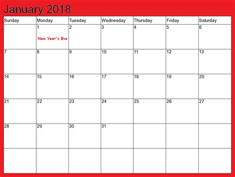 2018 calendar templates january 2018 calendar printable calendar templates