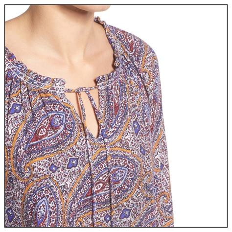 Lucky Brand Orange Paisley 37 lucky brand tops plus lucky brand paisley peasant top from ginny s closet on poshmark