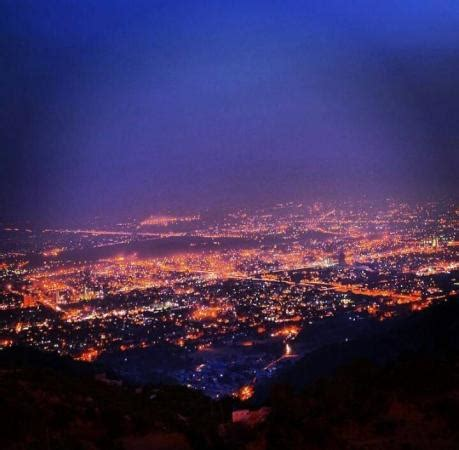 night view of islamabad from monal pakistan images & photos