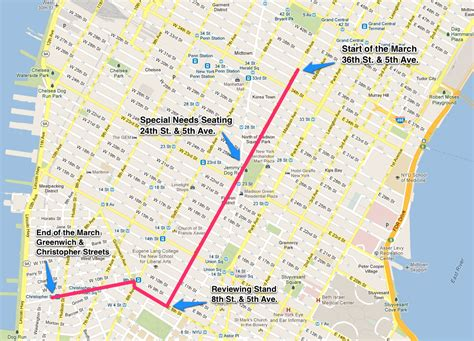 new year parade nyc 2015 map route map details for new york city s 2016 lgbt pride
