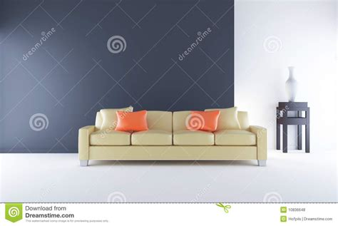 face couch couch to face a blank black wall royalty free stock photos