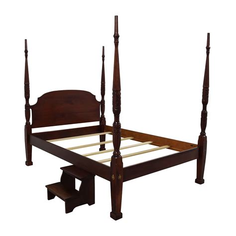 Rice Bed Frame Rice Bed Frame Cherry Rice Carved Four Poster Platform Bed By Shakastudios 76 Size Charleston