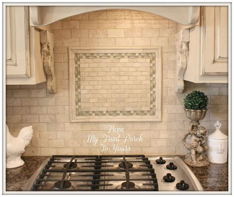 French Kitchen Backsplash Best 25 Travertine Backsplash Ideas On Pinterest Brick