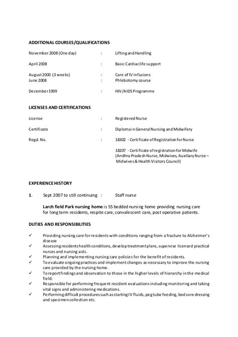 format for nurses abroad sle resume format for nurses abroad resume ideas