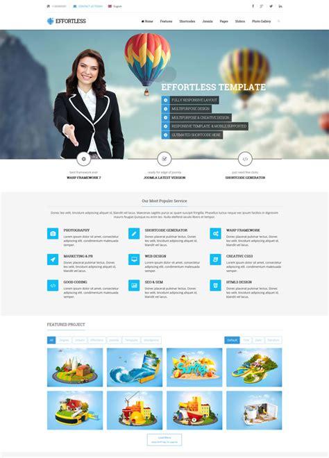 template joomla effortless 15 outstanding corporate joomla templates