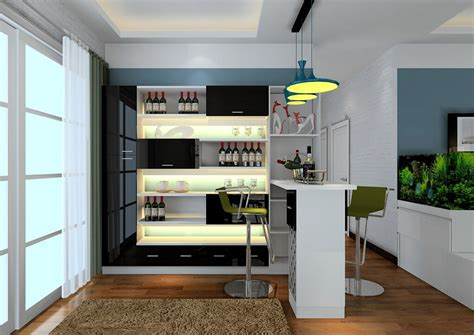 modern style home mini bar counter