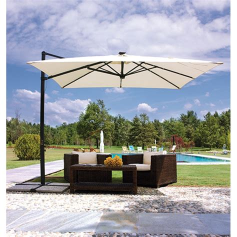 ombrellone da giardino ombrellone da giardino decentrato 3x3mt con san marco