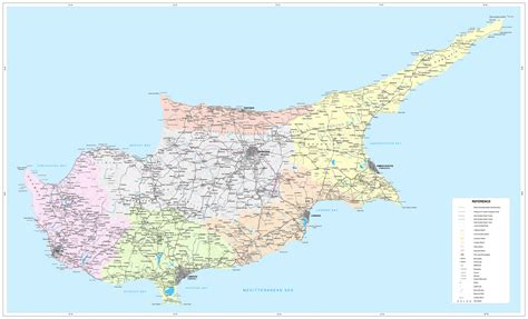 cyprus map road map of cyprus tourist map of cyprus maps of