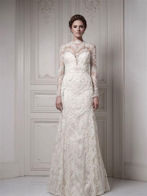 gorgeous lace sleeve wedding dresses